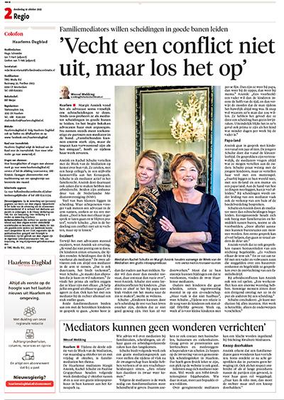Margrit Ansink in het Haarlems dagblad